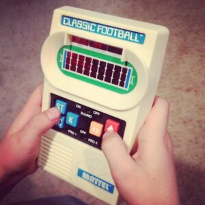 classic football hand held game